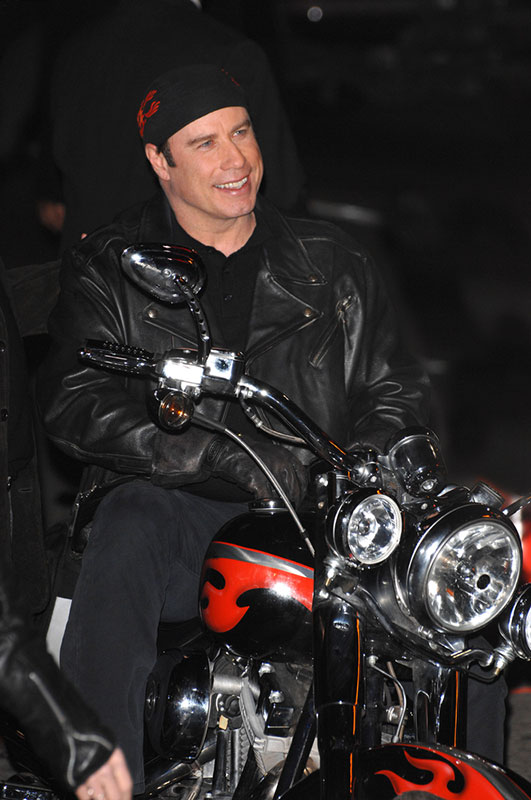 10 Famous Celebrities Who Ride Motorcycles - Travolta