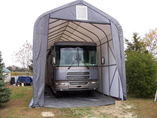 Winter RV Storage - RV Tent Cover