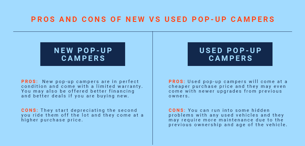 pop up camper pros and cons