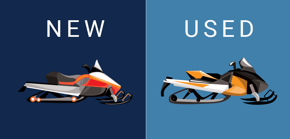 Snowmobiles new vs used