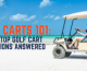 Golf cart on the beach